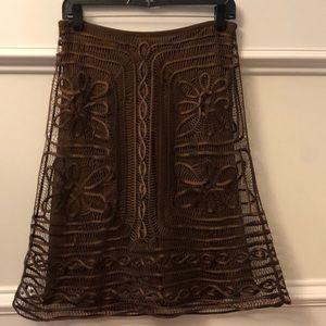 Studio M two layer silk skirt
